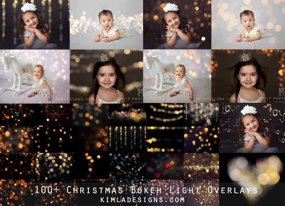 100+ Christmas Gold Bokeh Overlays - Kimla Designs  Quality Editing Tools for Creative Photographers, Photoshop Overlays, Textures, Photoshop Actions and Templates.
