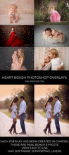 Load image into Gallery viewer, All the Hearts Bokeh Photoshop Overlays - Photoshop Overlays, Digital Backgrounds and Lightroom Presets
