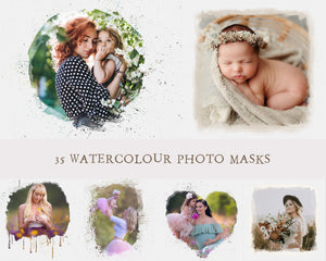 Watercolour Photo Masks