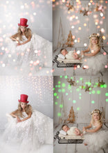 Load image into Gallery viewer, All the Colors of Christmas Bokeh Light Overlays - Photoshop Overlays, Digital Backgrounds and Lightroom Presets