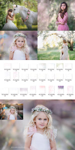 Artistic Blur Photo Overlays - Photoshop Overlays, Digital Backgrounds and Lightroom Presets