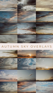 Autumn Sky Photo Overlays - Photoshop Overlays, Digital Backgrounds and Lightroom Presets