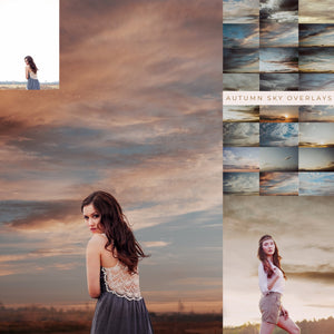 Autumn Sky Photo Overlays