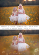 Load image into Gallery viewer, Wildflowers Painted Photo Overlays - Photoshop Overlays, Digital Backgrounds and Lightroom Presets