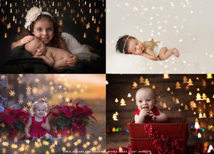 Christmas Shapes Bokeh Light Overlays - Kimla Designs  Quality Editing Tools for Creative Photographers, Photoshop Overlays, Textures, Photoshop Actions and Templates.