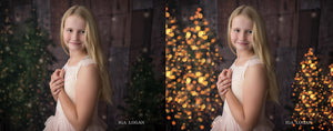 Christmas Tree Lights Bokeh Overlays - Photoshop Overlays, Digital Backgrounds and Lightroom Presets