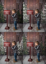 Load image into Gallery viewer, Christmas Tree Snow Overlays - Photoshop Overlays, Digital Backgrounds and Lightroom Presets