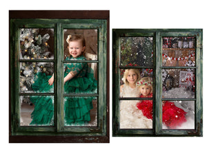 Christmas Window Frame Photo Overlays + Free Gift