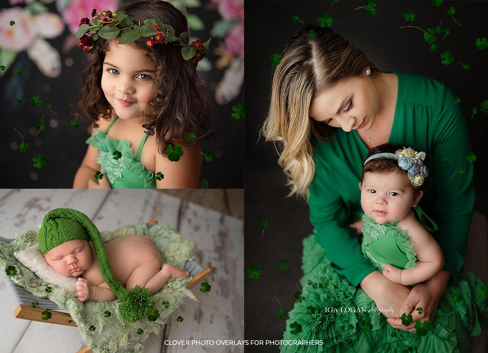 Clover Photo Overlays for Photographers - Photoshop Overlays, Digital Backgrounds and Lightroom Presets