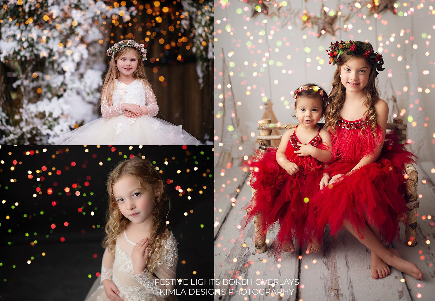 Festive Lights Photo Overlays - Photoshop Overlays, Digital Backgrounds and Lightroom Presets