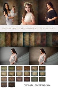 Fine Art Painted Muslin Studio Portrait Textures