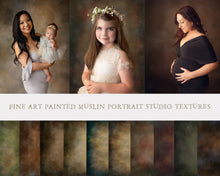 Load image into Gallery viewer, Fine Art Painted Muslin Studio Portrait Textures