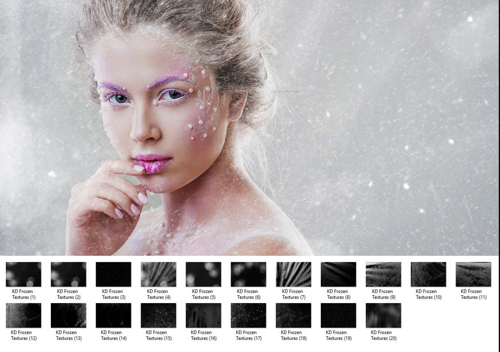 Frozen Textures - Photoshop Overlays, Digital Backgrounds and Lightroom Presets
