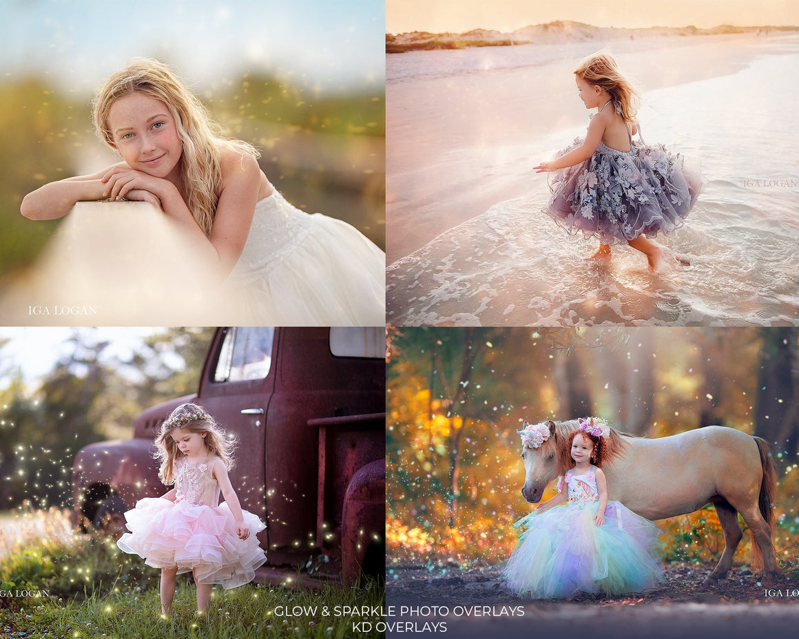 Glow & Sparkle Photo Overlays