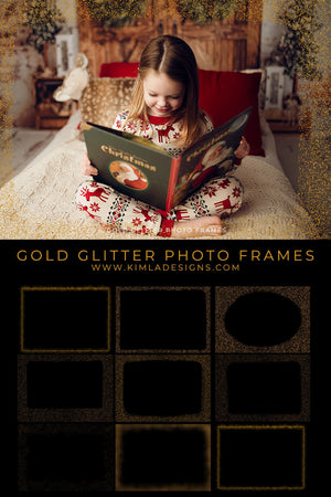 Gold Glitter Photo Frames