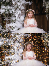 Load image into Gallery viewer, Little Snowflake Christmas Golden Bokeh Photo Overlays - Photoshop Overlays, Digital Backgrounds and Lightroom Presets