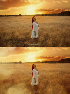 Golden Fields Photo Overlays + Free Gift - Photoshop Overlays, Digital Backgrounds and Lightroom Presets