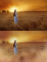 Load image into Gallery viewer, Golden Fields Photo Overlays + Free Gift - Photoshop Overlays, Digital Backgrounds and Lightroom Presets