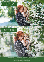 Load image into Gallery viewer, Jasmine Flowers Photo Overlays - Photoshop Overlays, Digital Backgrounds and Lightroom Presets