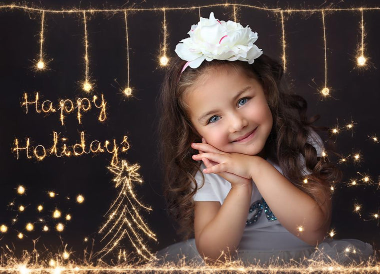 Holiday Sparklers Photo Overlays vol.2