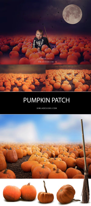 Pumpkin Patch Digital Backdrops & Overlays - Kimla Designs  Quality Editing Tools for Creative Photographers, Photoshop Overlays, Textures, Photoshop Actions and Templates.