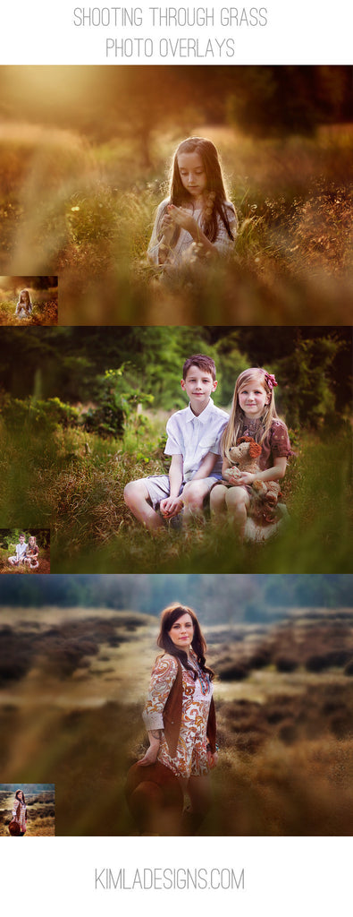Shooting Through Grass Overlays - Kimla Designs  Quality Editing Tools for Creative Photographers, Photoshop Overlays, Textures, Photoshop Actions and Templates.