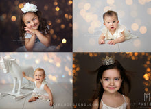 Load image into Gallery viewer, Christmas Gold Bokeh Overlays - Photoshop Overlays, Digital Backgrounds and Lightroom Presets