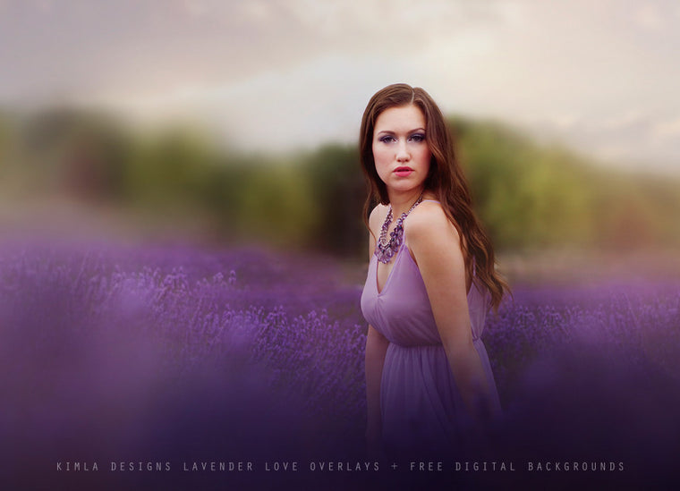 Lavender Love Photo Overlays + Free Gift - Kimla Designs  Quality Editing Tools for Creative Photographers, Photoshop Overlays, Textures, Photoshop Actions and Templates.