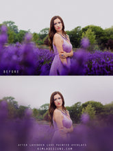 Load image into Gallery viewer, Lavender Love Photo Overlays + Free Gift - Photoshop Overlays, Digital Backgrounds and Lightroom Presets