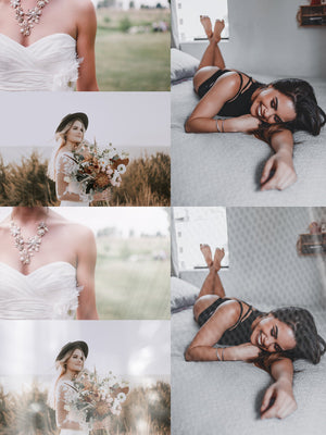Light & Airy Glamour Photo Overlays