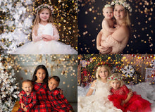 Load image into Gallery viewer, Little Snowflake Christmas Golden Bokeh Photo Overlays