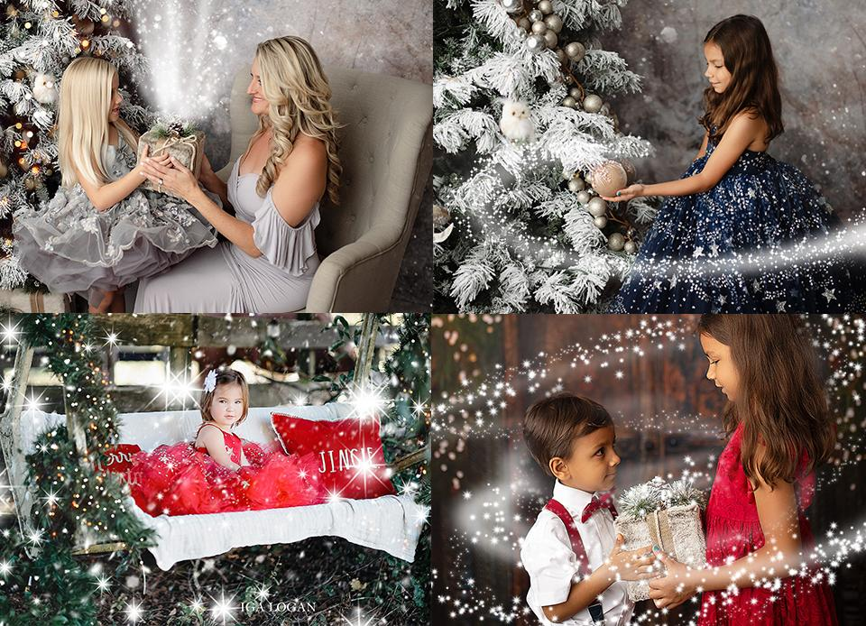 Magical Snow Christmas Photo Overlays