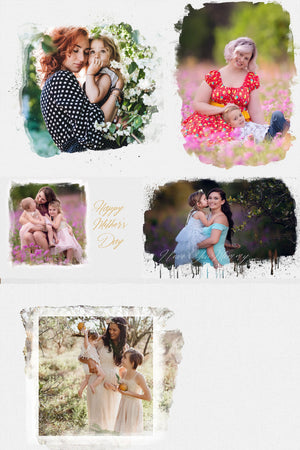 Mother's Day Watercolor Overlay Pages