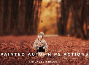 Painted Autumn PS Actions + Free Gift - Photoshop Overlays, Digital Backgrounds and Lightroom Presets