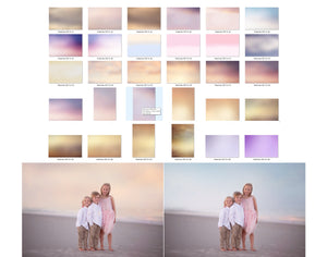 Pastel Sea Color & Tone Photo Overlays - Kimla Designs  Quality Editing Tools for Creative Photographers, Photoshop Overlays, Textures, Photoshop Actions and Templates.