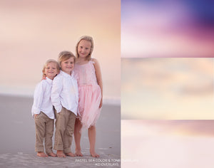 Pastel Sea Color & Tone Photo Overlays - Photoshop Overlays, Digital Backgrounds and Lightroom Presets