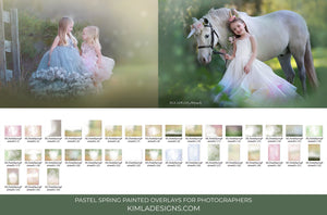 Pastel Spring Photo Overlays