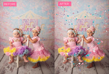 Load image into Gallery viewer, Pastel Heart Confetti Photo Overlays - Photoshop Overlays, Digital Backgrounds and Lightroom Presets