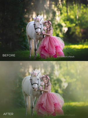Pastel Spring Photo Overlays - Photoshop Overlays, Digital Backgrounds and Lightroom Presets