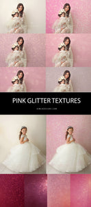 Valentines Pink Glitter Textures - Photoshop Overlays, Digital Backgrounds and Lightroom Presets