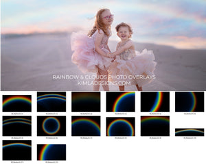Rainbows & Clouds Photo Overlays