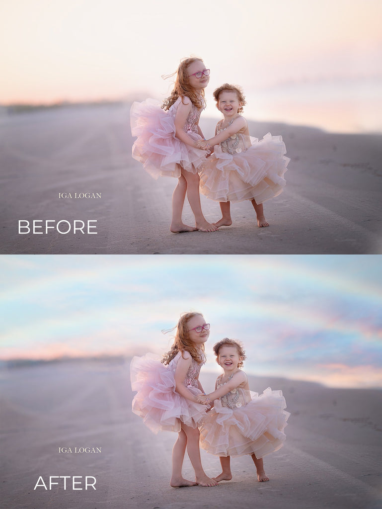 Rainbows & Clouds Photo Overlays - Photoshop Overlays, Digital Backgrounds and Lightroom Presets