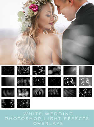 White Wedding Light Photoshop Overlays - Photoshop Overlays, Digital Backgrounds and Lightroom Presets