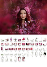 Load image into Gallery viewer, Shooting Through Blossom Overlays - Photoshop Overlays, Digital Backgrounds and Lightroom Presets