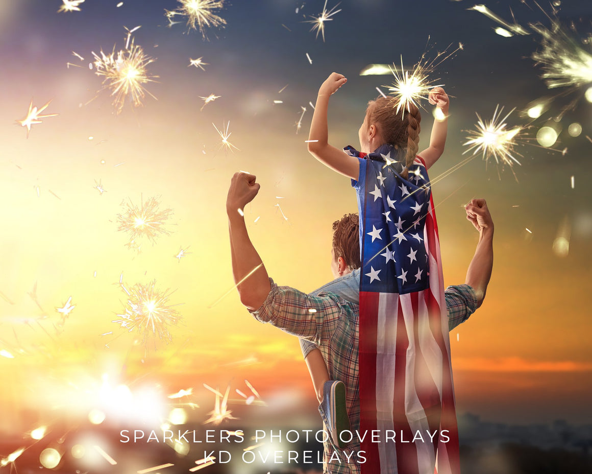 Sparklers 4th of July Photo Overlays
