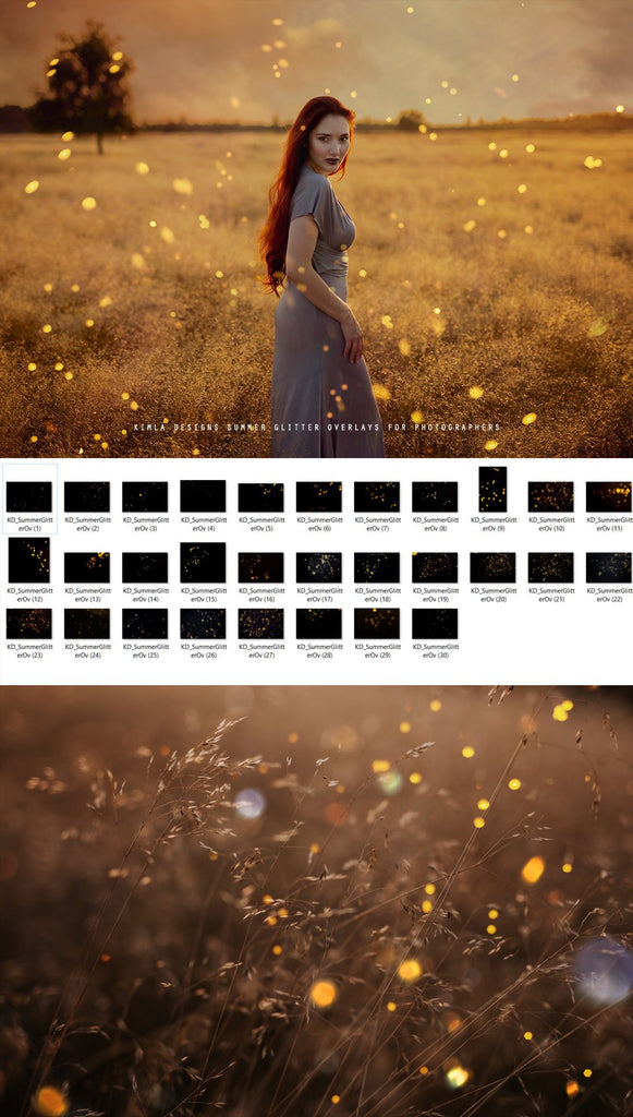 Summer Glitter Overlays - Kimla Designs  Quality Editing Tools for Creative Photographers, Photoshop Overlays, Textures, Photoshop Actions and Templates.