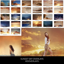 Load image into Gallery viewer, Sunset Sky Photo Overlays - Photoshop Overlays, Digital Backgrounds and Lightroom Presets