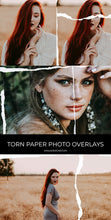 Load image into Gallery viewer, Torn Paper Photo Overlays - Photoshop Overlays, Digital Backgrounds and Lightroom Presets