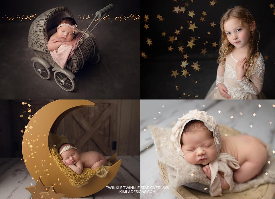 Twinkle Twinkle Star Overlays - Photoshop Overlays, Digital Backgrounds and Lightroom Presets
