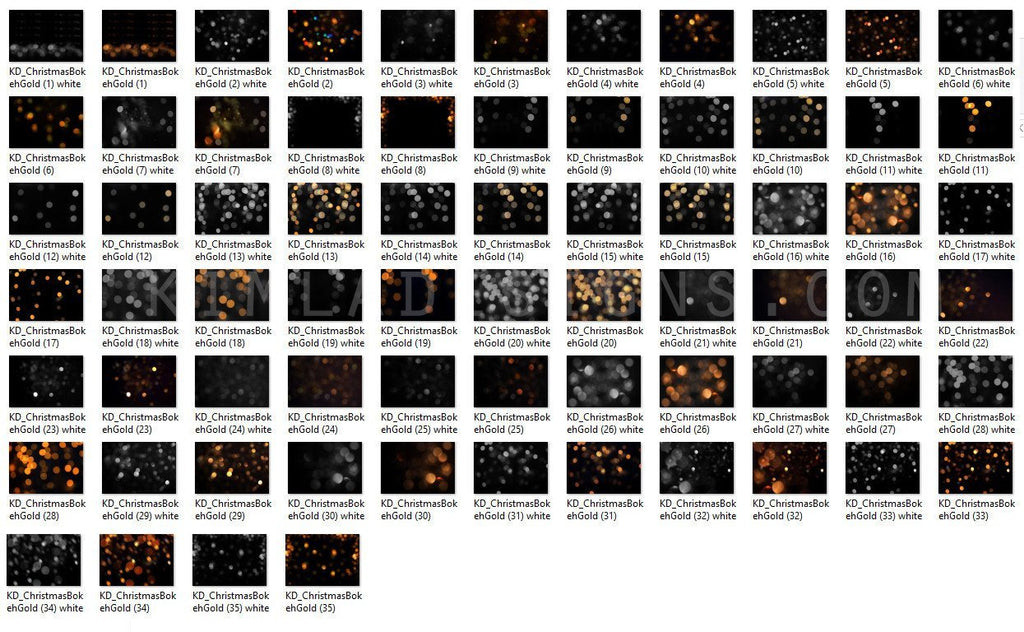 300+ Bundle Christmas Bokeh Lights Overlays